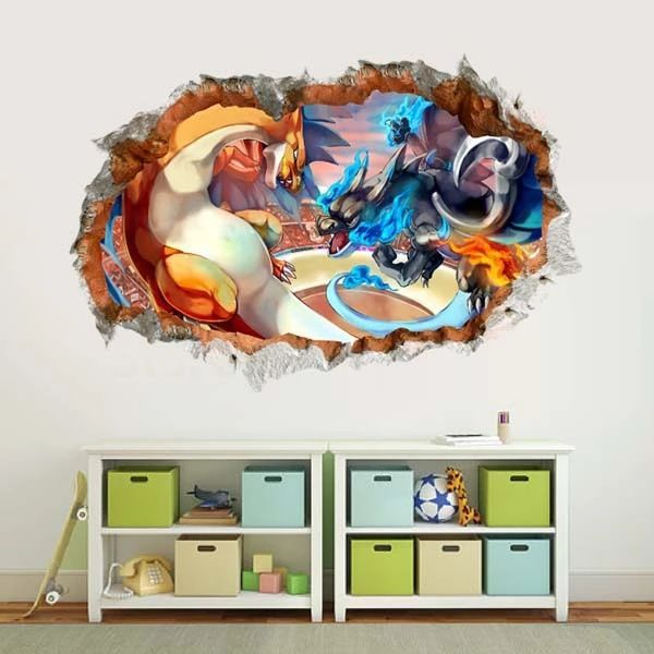 cartoon-font-b-pokemon-b-font-charizard-wall-sticker-kids-mural-vinyl-game-decal-nursery-decor-wall-stickers
