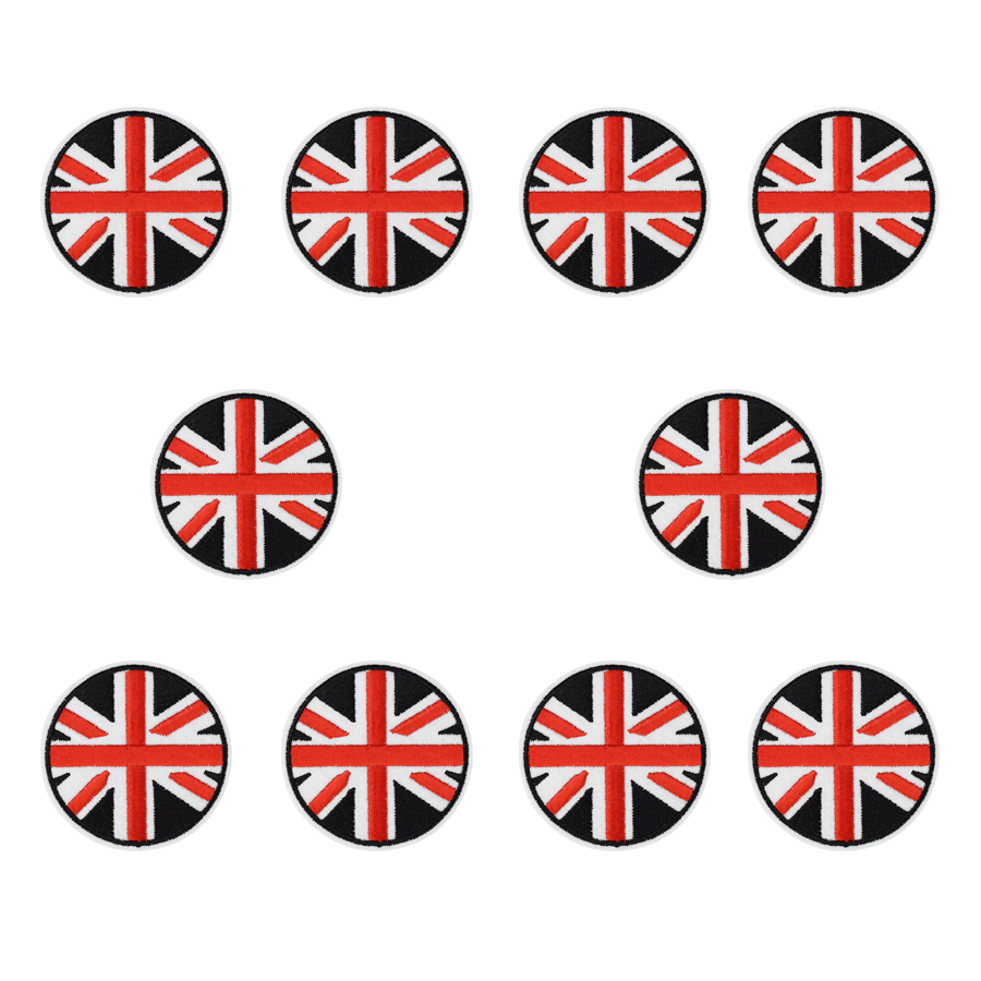 10pcs <font><b>British</b></font> <font><b>flag</b></font> embroidered <font><b>patches</b></font> for clothing iron on <font><b>patches</b></font> for clothes badges clothes iron-on <font><b>patches</b></font> for jeans