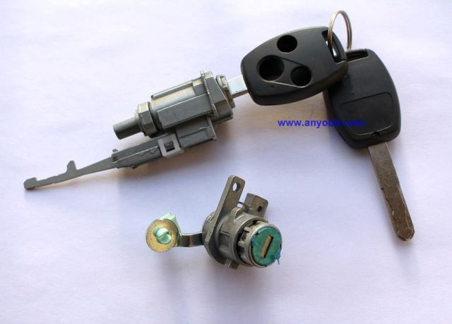 2003 2007 for Honda Accord car Left Front door and ignition lock cylinder-in Car Key from ...
