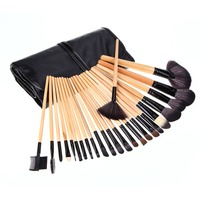 24pcs Horse Hair Makeup Brushes Set Animal Wool Cosmetic Tool Kit Pro Blush Foundation Eyeshadow Make Up Brush Pincel Maquilagem