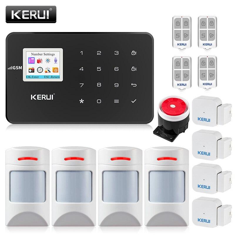 KERUI G18 Home alarm Wireless GSM Security Alarm System  With Motion Detector Sensor Burglar Alarm Wireless Magnetic Door magnet