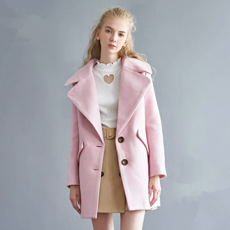 Online Buy Wholesale light pink wool coat from China light pink ...