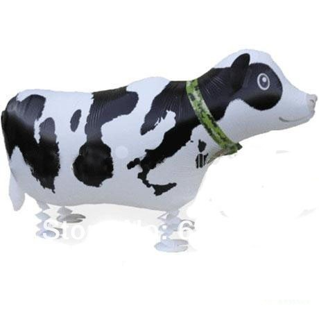 Free shipping wholessale 20pcs/lot  walking cow balloon helium pet balloon party balloons