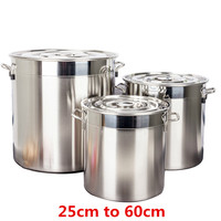 big large Capacity Stainless steel bucket pail compound sole thick soup pot commercial household 2.5mm chef used kitchen pot