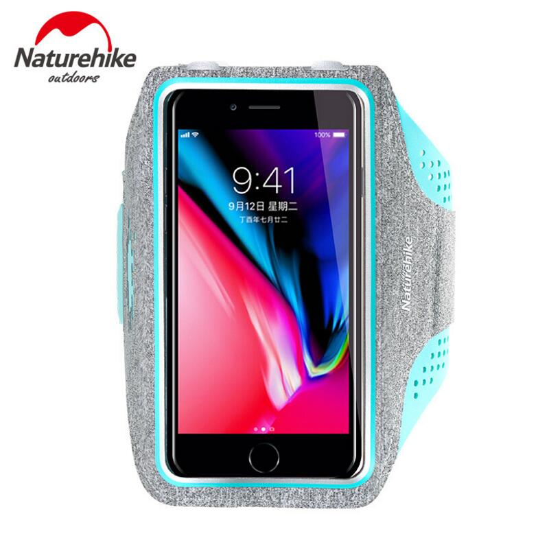 Naturehike Running Sports Bags Men Women Touch Screen Cell Phone Arms Package Cycling Gym Mobile Phone Bag Waterproof Bag