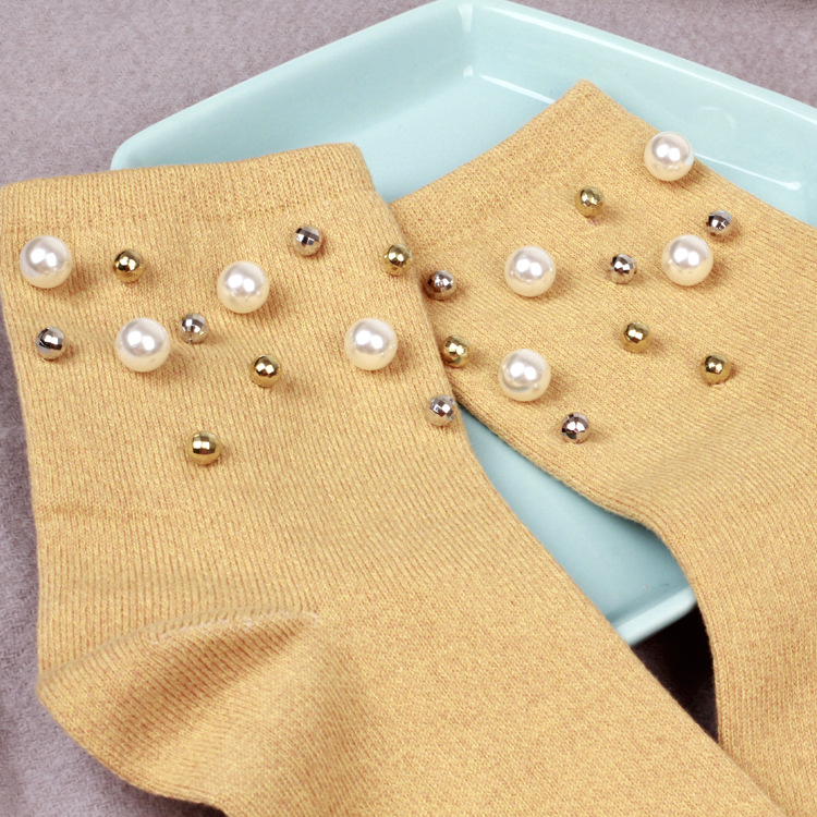 NOVIA NMW-021 high quality women socks Winter individual handmade custom pearl cotton socks