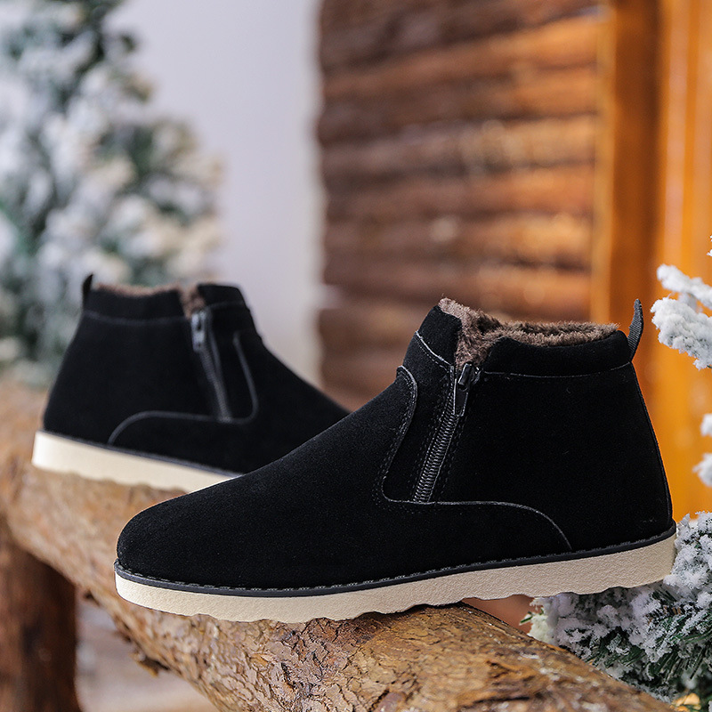 Basic Boots 2018 Winter Fur Warm Male Boots For Men Casual Shoes Work Adult Quality Walking Rubber Brand Safety Footwear Sneakers Student