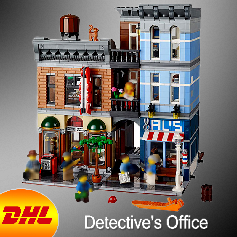 HF City Street Figures 2262Pcs Detective's Office Model Building Kit Blocks Bricks Educational Toy For Children Compatible 10197 a toy a dream lepin 15008 2462pcs city street creator green grocer model building kits blocks bricks compatible 10185
