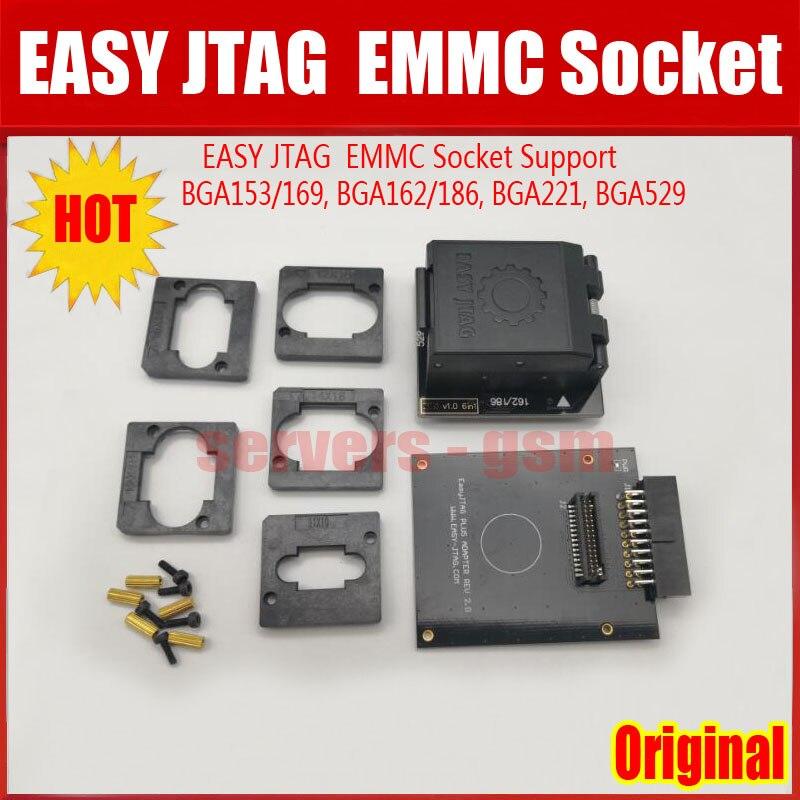 2019 NEW Original EASY JTAG PLUS BOX EMMC Socket (BGA153/169, BGA162/186,  BGA221, BGA529)