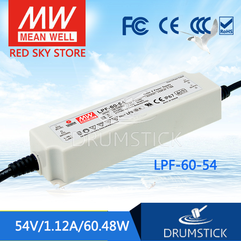 цена на Hot sale MEAN WELL LPF-60-54 54V 1.12A meanwell LPF-60 54V 60.48W Single Output LED Switching Power Supply