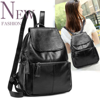 Backpack Women Genuine Leather Bag Women Bag Cow Leather Women Backpack Mochila Feminina School Bags For
