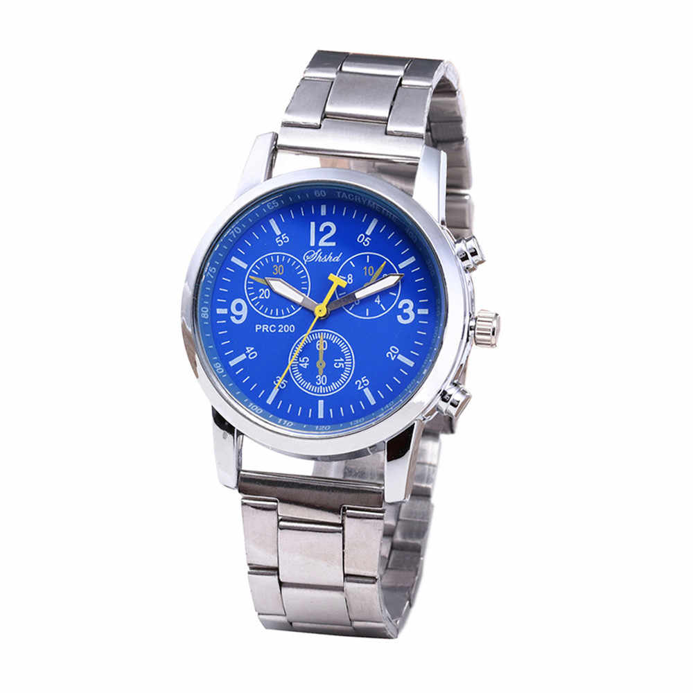2018 Venta caliente, reloj hombres reloj masculino de moda Neutral analógico de cuarzo reloj banda de acero relojes negocios reloj hombre Saat
