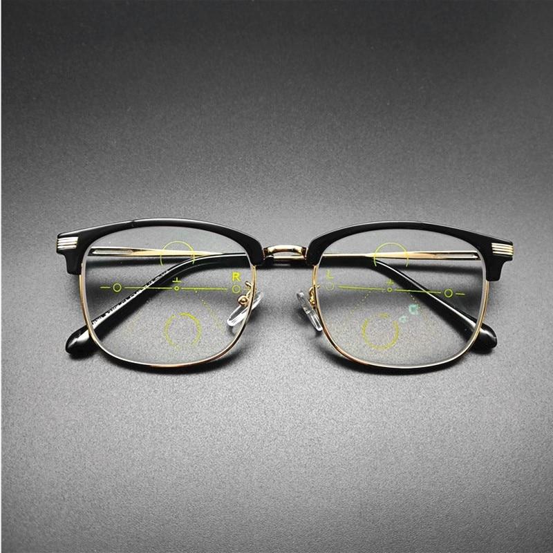 2019 Retro Vintage Reading Glasses Men Bifocal Hight Quality Reading Glasses Tr90 Oversize Square Presbyopic Glasses Black