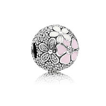 Hot Sale Silver Color Crystal Beads Toy Car Umbrella Snowflake Beads Charms Fit Pandora Bracelets Necklaces for Women DIY Colar(China)