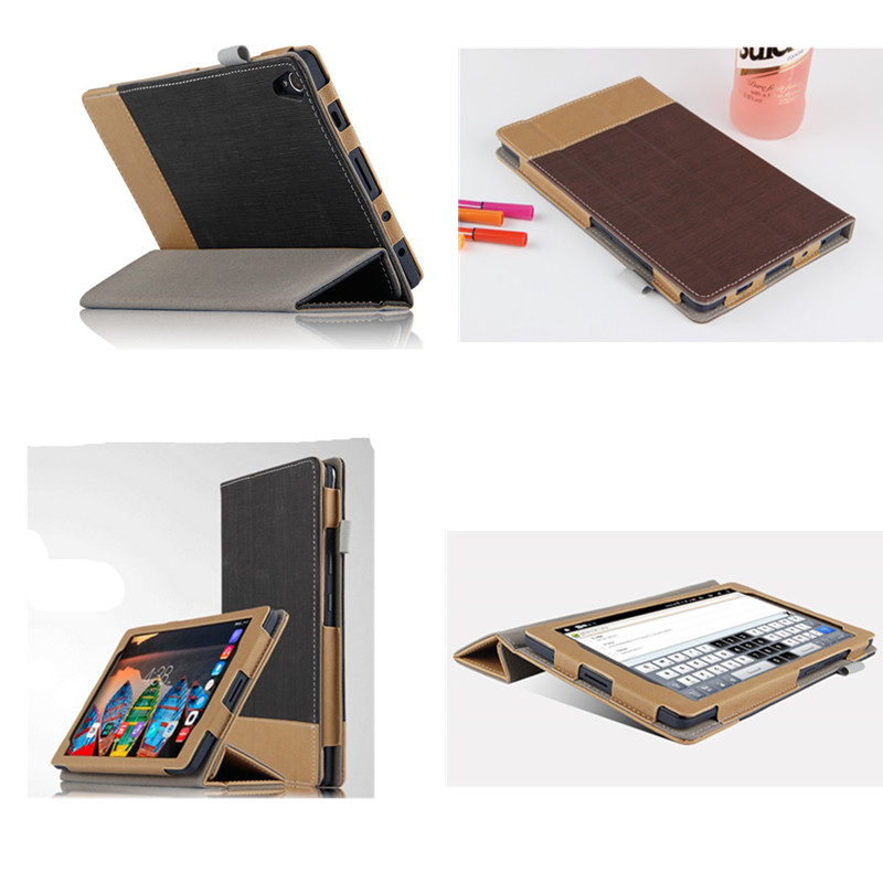 SD Luxury PU Leather Flip Business Book Cover Stand Protective case For Lenovo P8 (TAB3 8 Plus ) 8.0 TB-8703F TB-8703N Tablet