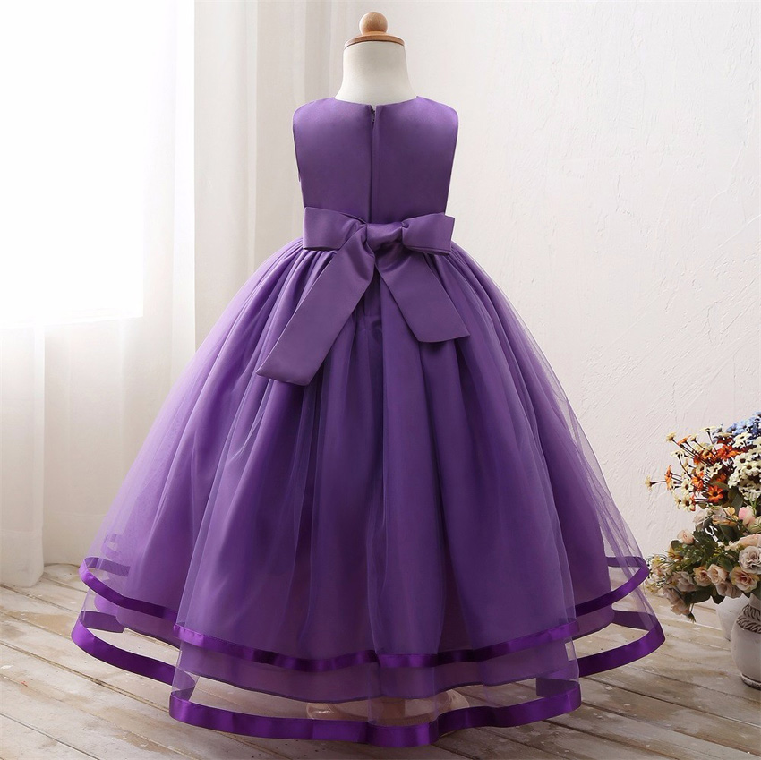 Maxi Summer Kids Wedding Dresses For Girls Designs Long Evening Party Bridesmaid Formal Robe Fille Little Children Clothing 18 18
