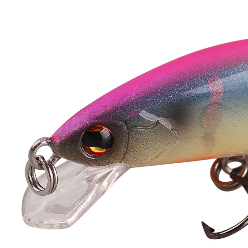 Smart 55mm 4 6g Minnow Lures Sinking VMC Hook Iscas Artificial Pesca Leurre Dur Peche Souple Broch Hard Fishing Bait Kunstaas in Fishing Lures from Sports Entertainment
