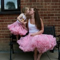 2017 paternidad niños arco Falda otoño estilo de Europa de los niños adultos pettiskirt Tutu faldas madre hija juego ropa de color rosa