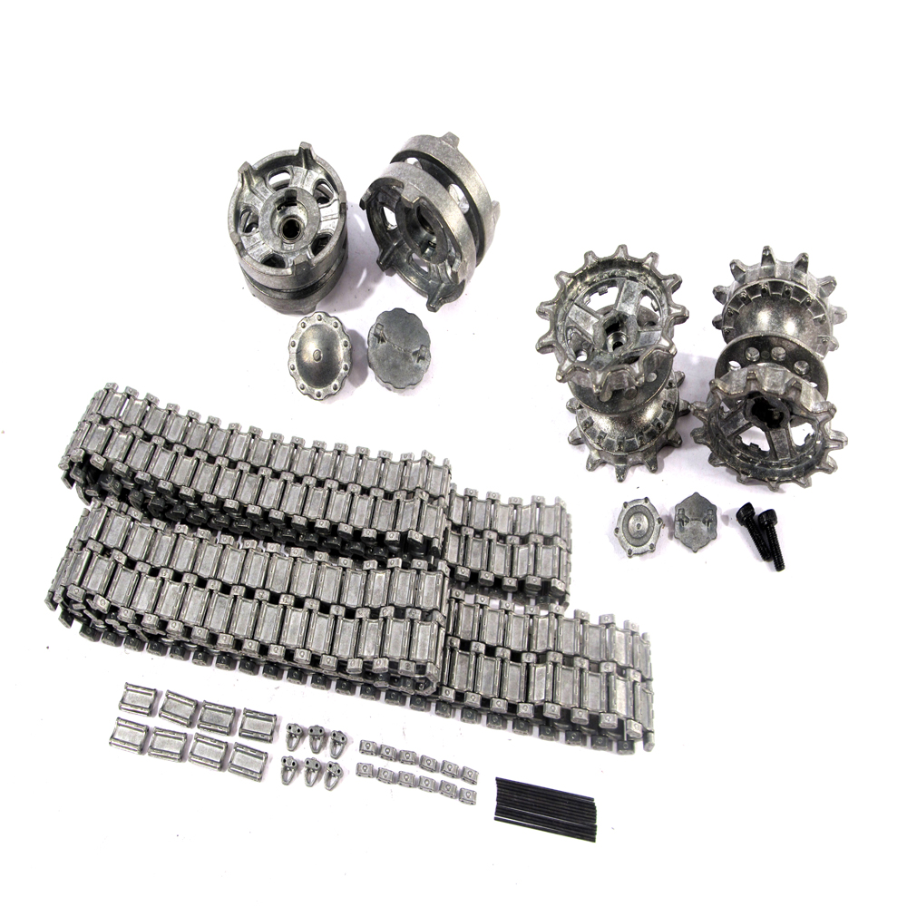 Mato Metal Tracks Sets Sprockets With Metal Caps Idler Wheels With Bearings For Heng Long 3938 RUSSIAN T 90 1 16 Tank knl hobby heng long russian t 90 1 16 scale 2 4ghz r c main battle tank 3938 1 ultimate metal version metal gear tracks somke