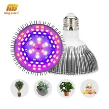 Светодиодный светильник для выращивания 5 Вт 10 Вт 30 Вт 50 Вт 80 Вт полный спектр фитолампа УФ ИК светодиодный светильник для растений для гидропоники растений овощей Fitolamp