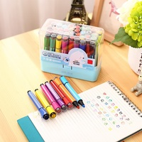 24 Color Kids Drawing Watercolor Pens Painting Pens Children Early Learning Education Toys