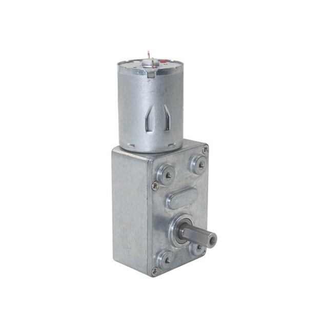 6V 12V 24V 2RPM a 150RPM DC Motor de engranaje de reducción de gusano de baja velocidad para DIY Motors JGY370 gusano motorreductor 12V