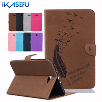 Coque Cover For Samsung Galaxy Tab A 10 1 Inch Leather Stand Feather Fundas Shell For