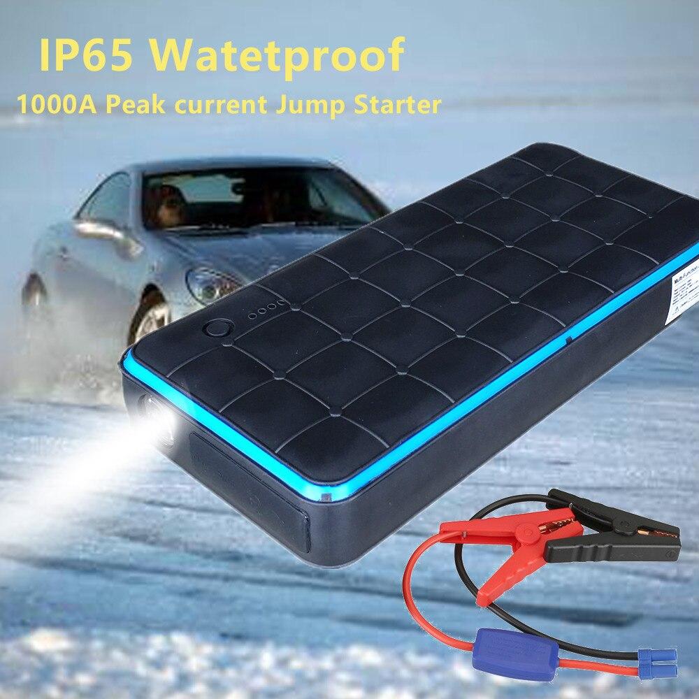 IP65 Impermeabile 1000A 28000 mah 12 v Caricabatteria Per Auto di Partenza Auto Salto di Avviamento Ripetitore Accumulatori e caricabatterie di riserva Tool Kit di Avviamento Auto dispositivo