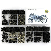 For BMW F800ST 2007 2008 2009 2010 2011 2012 Complete Full Fairing Covering Bolts Kit Nuts OEM Style Steel Bodywork Screws complete motorcycle fairing bolt kit body screws nuts for yamaha fz6 2009 2012 yzf1000r 1996 2007 xj6 09 12 bodywork fasteners
