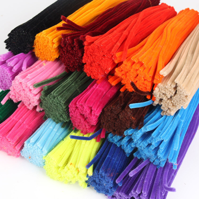 100pcs 30cm Chenille Stems Pipe Cleaners Children Educational Toys Handmade Colorful for DIY Craft Supplies
