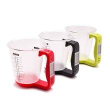 Hostweigh мерный стаканчик Кухня цифровые весы стакан весы электронные инструмент весы с температура дисплея LCD измерительные чашечки