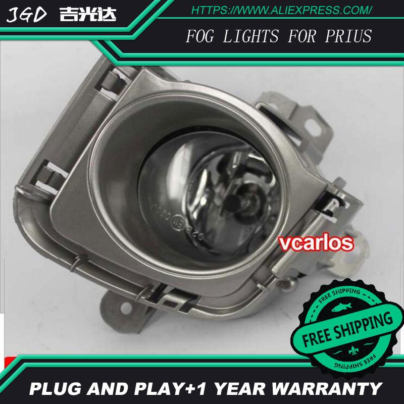 2PCS / Pair Halogen Fog Light For Toyota Prius 2010 High Power Halogen Fog Lamp Auto DRL Lighting Led Headlamp