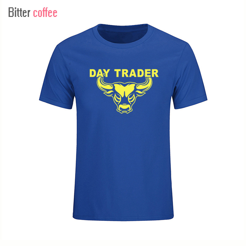 Summer NEW Short sleeve T-Shirts Day Trader Shirt Stock Market Trading printing Round Collar Short Sleeve Tops & Tees Plus Size image