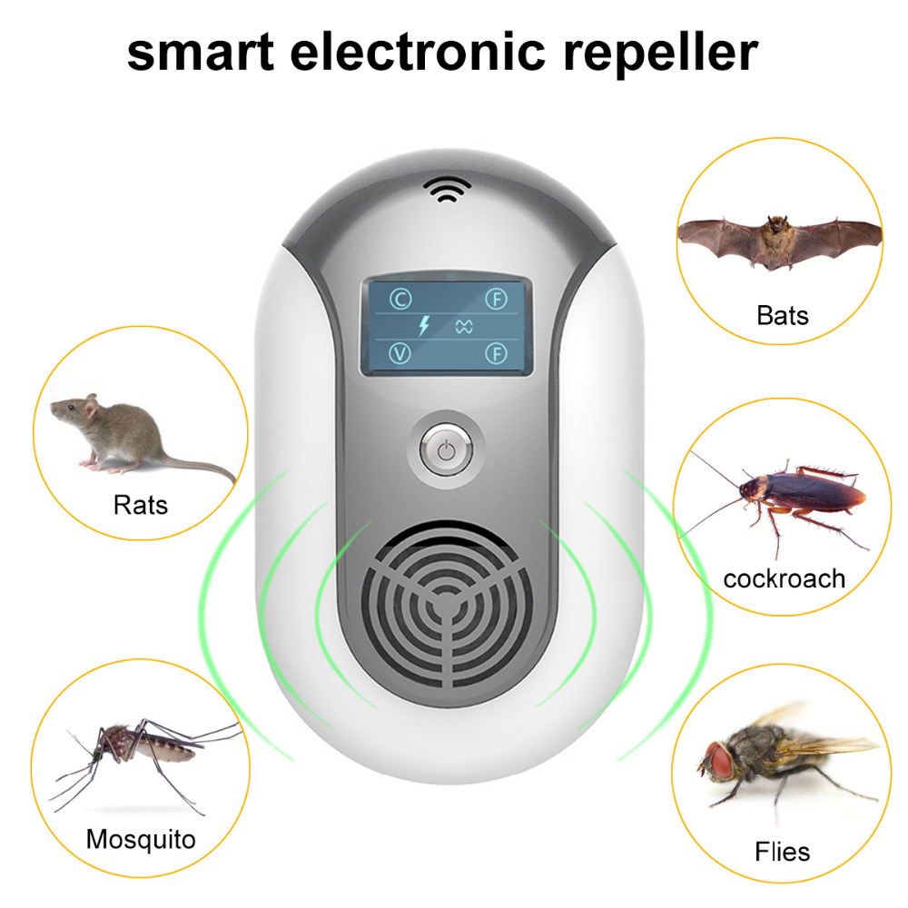 EU UK US Plug font b Electronic b font Ultrasonic Pest Repeller Coverage160 Square Meters Mosquito