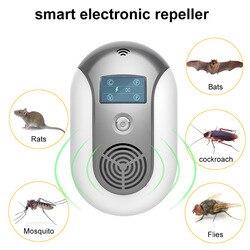 UE Reino Unido ee.uu. Plug ultrasónico electrónico del parásito Coverage160 metros cuadrados Mosquito rechazador ratón rata ratón repelente