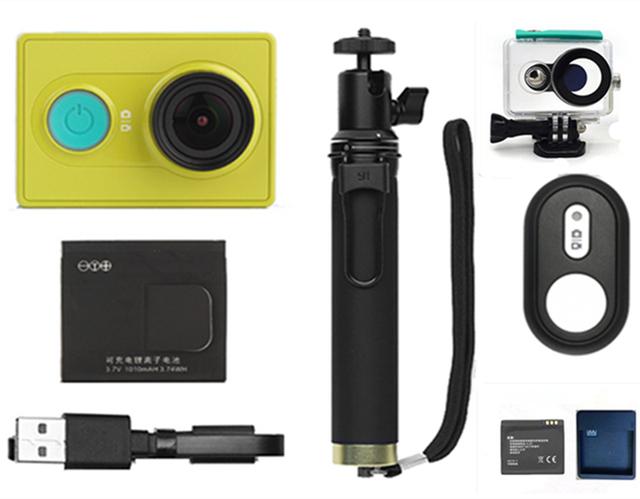 Original xiaomi yi curso esporte câmera ação 1080 p 60fps câmera 16mp wi-fi bluetooth 4.0 inteligente à prova d' água acessório opcional