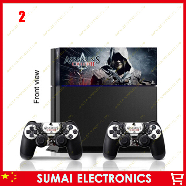 Wholesale wholesale decals console and 2 matching controller skins custom sticker cover for playstation 4 ps4