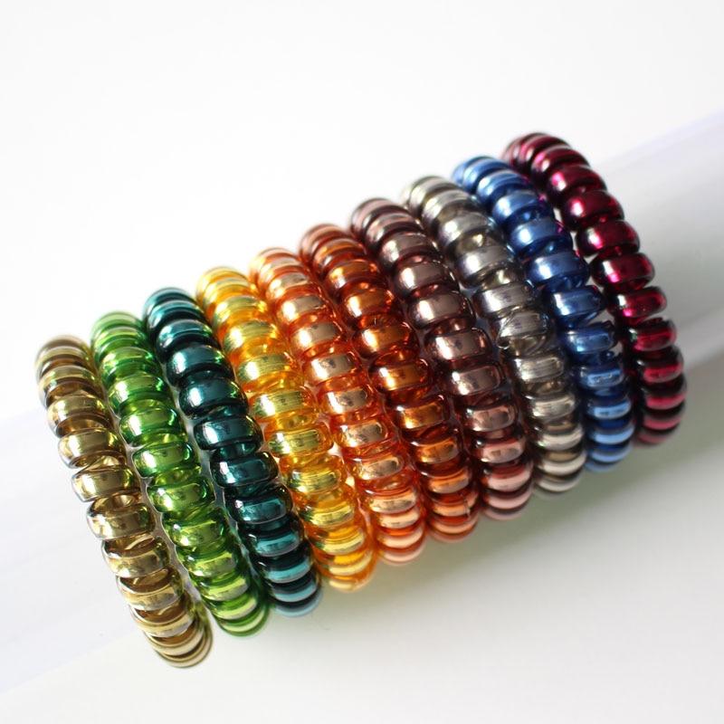 10 unids / lote mujeres de moda alambre de plástico elástico banda - Accesorios para la ropa