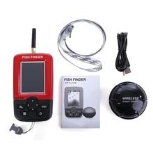 Outlife Portable Smart Fish Finder Sonar Sounder Alarm Transducer Fishfinder 100M Fishing Wireless Echo Sounder English Display