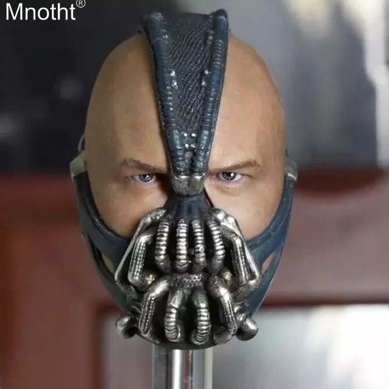 Mnotht 1/6 Batman Dark Knight Salita Bain Benn Babe Testa sculture Modello per 12in Soldato Maschio Giocattolo Action Figure Collection ma