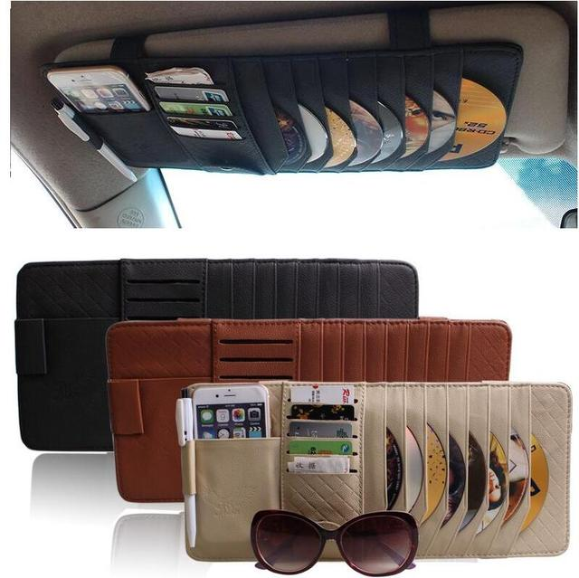 CITYCARAUTO CAR INTERIOR HOLDER CAR SUN VISORS COVER CD CARD MOBILE HOLDERs GLASSES CASE  SUN VERSOR FOR ALL OF THE CAR