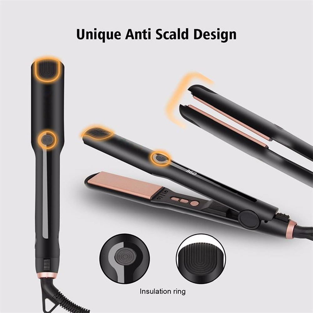 Professional Hair Straightener Hair Flat Iron Vapor Straightening 3D Floating Plate Anti-Scald Ceramic Tourmaline Curling Iron mch flexible 3d floating ceramic wide plates flat iron far infrared hair straightener straightening curling with negative ions