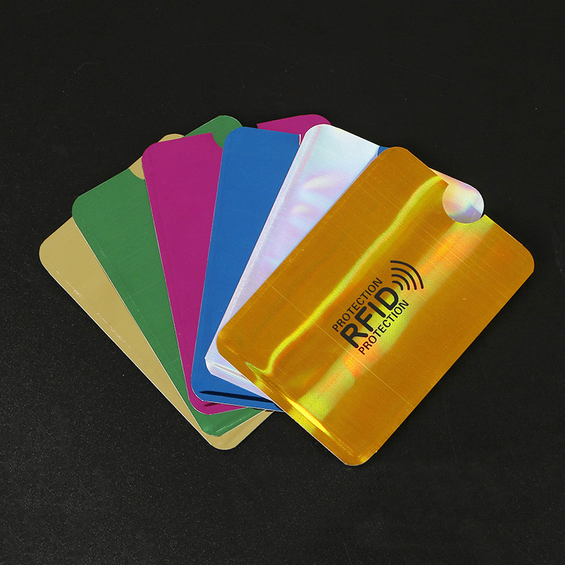 7Pcs Anti Rfid Wallet Blocking Reader Lock Bank Card Holder Id Bank Card Case Protection Metal Credit NFC Holder Aluminium