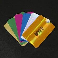 Porte-monnaie Anti-Rfid en Aluminium, 7 pièces, Protection de carte d'identité, serrure de crédit, NFC