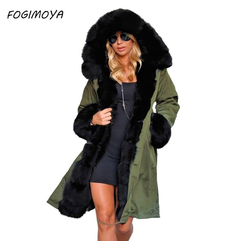 Estilo Mujer De Mujeres Slim Larga Chaqueta Moda Abrigo Piel Black Cuello  Capucha Abajo Fogimoya Con amy Camuflaje Algodón ... 99893f127fd6a