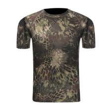 SHOWERSMILE Brand Printed TShirt Men Apparel Army Military Quick Dry Field Jungle Pretend Camo Clothing One Piece Tops Tees