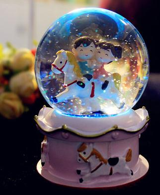 Hot Selling Crystal Ball The Music Box Creative Birthday Gift Girl Girlfriends Children Kids Graduation Gifts Qy554