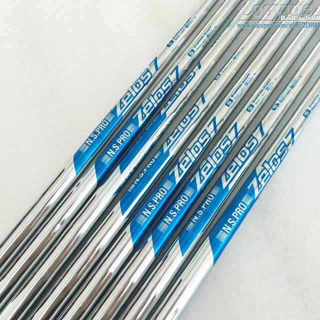 Cooyute Nuovo mens Golf club shaft NS PRO ZELOS 7 Da Golf in Acciaio del pozzo R o S flex in scelta 8 pz/lotto ferri Da Golf albero di trasporto libero