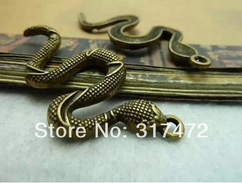 Free shipping!!!   The ancient bronze snake 25 * 55 mm  DIY jewelry accessories restoring ancient ways