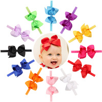 4 7Inch Baby Bow Headwear Hair Bowknot Headbands Infant Hair Accessories Girls Grosgrain Ribbon Bow Headband